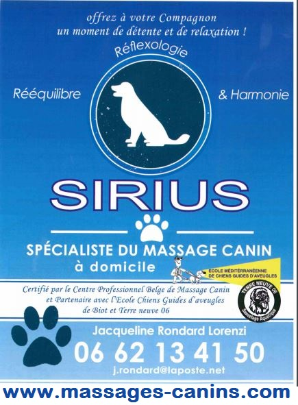partenaire hope pet food sirius massages canins