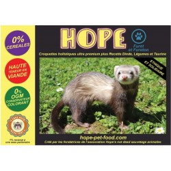 61% Dinde sans céréales Alternative Barf - Hope Pet Food - croquettes Furet fureton fouine vison