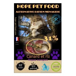 31% Canard et Riz Ultra Premium - Hope Pet Food - croquettes chat adulte toute race