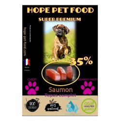Saumon hypoallergénique super premium - Hope Pet Food - croquettes chiots grandes races
