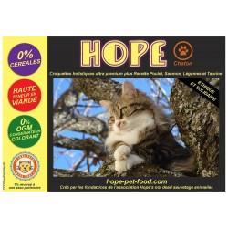 75% Poulet Saumon sans céréales alternative barf- Hope Pet Food - croquettes chaton - chatte gestante  toute race