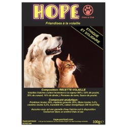 Friandises Sans Céréales à la volaille Hope pet food chien chat furet