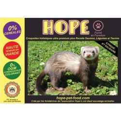 60% Saumon sans céréales Alternative Barf - Hope Pet Food - croquettes Furet fureton fouine vison.