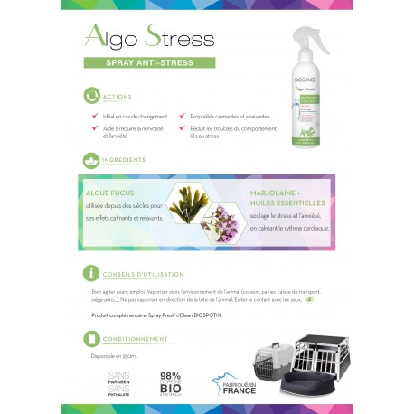 Spray Anti-stress chien et chat AlgoStress Biogance