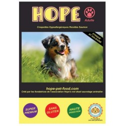 Saumon hypoallergénique super premium - Hope Pet Food - croquettes chien adulte toutes races
