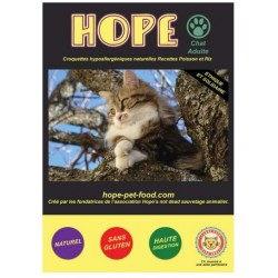 Poisson et Riz Natural - Hope Pet Food - croquettes sans gluten- chat adulte toute race