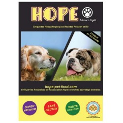 Volailles et riz hypoallergénique super premium - Hope Pet Food - croquettes chien sénior ou en surpoids