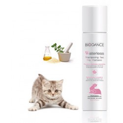 Shampoing sec chat biogance waterless