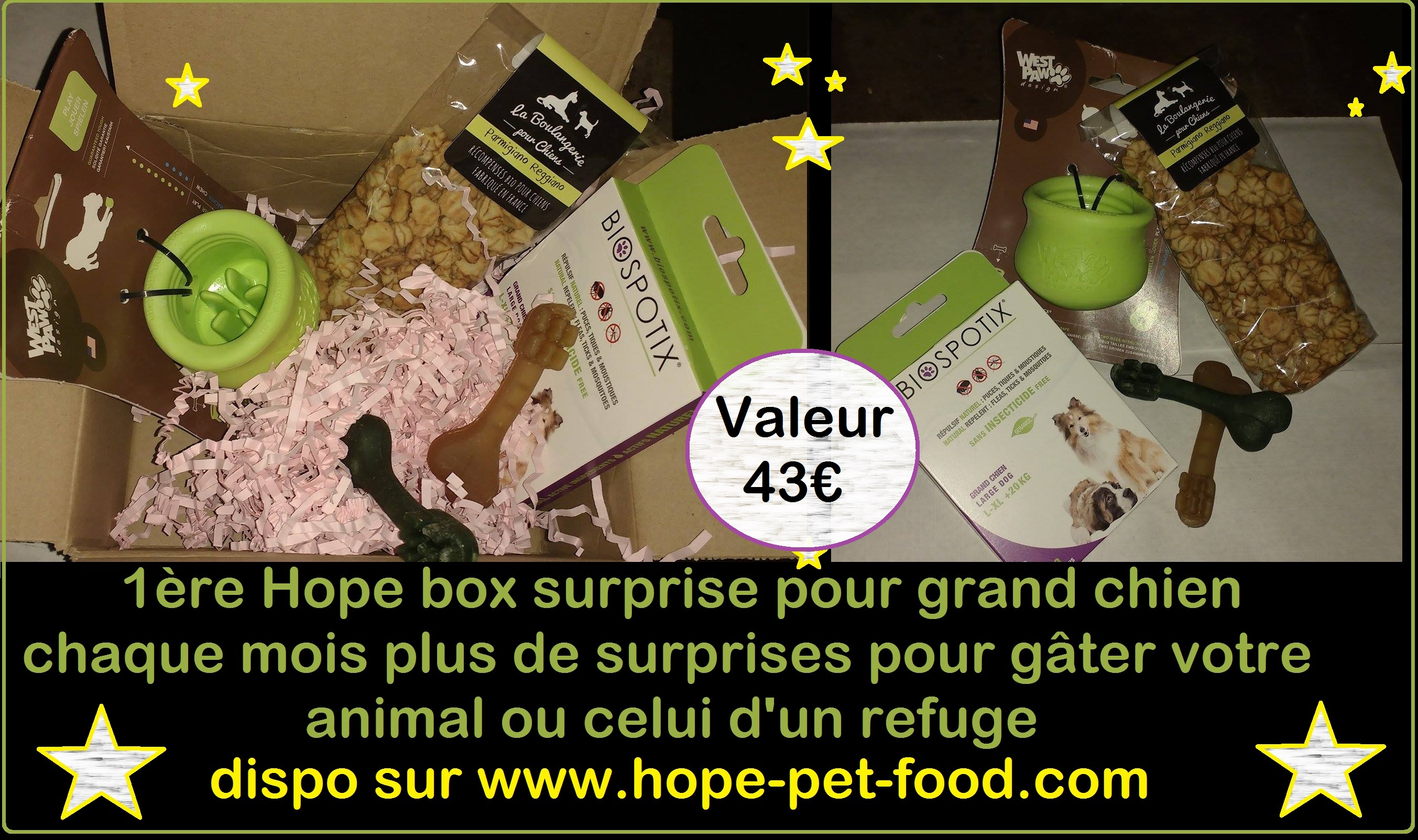 Hope box dog box woufbox box naturelle chien